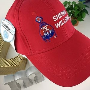 🌍NWT Sherwin Williams brushed twill golf hat